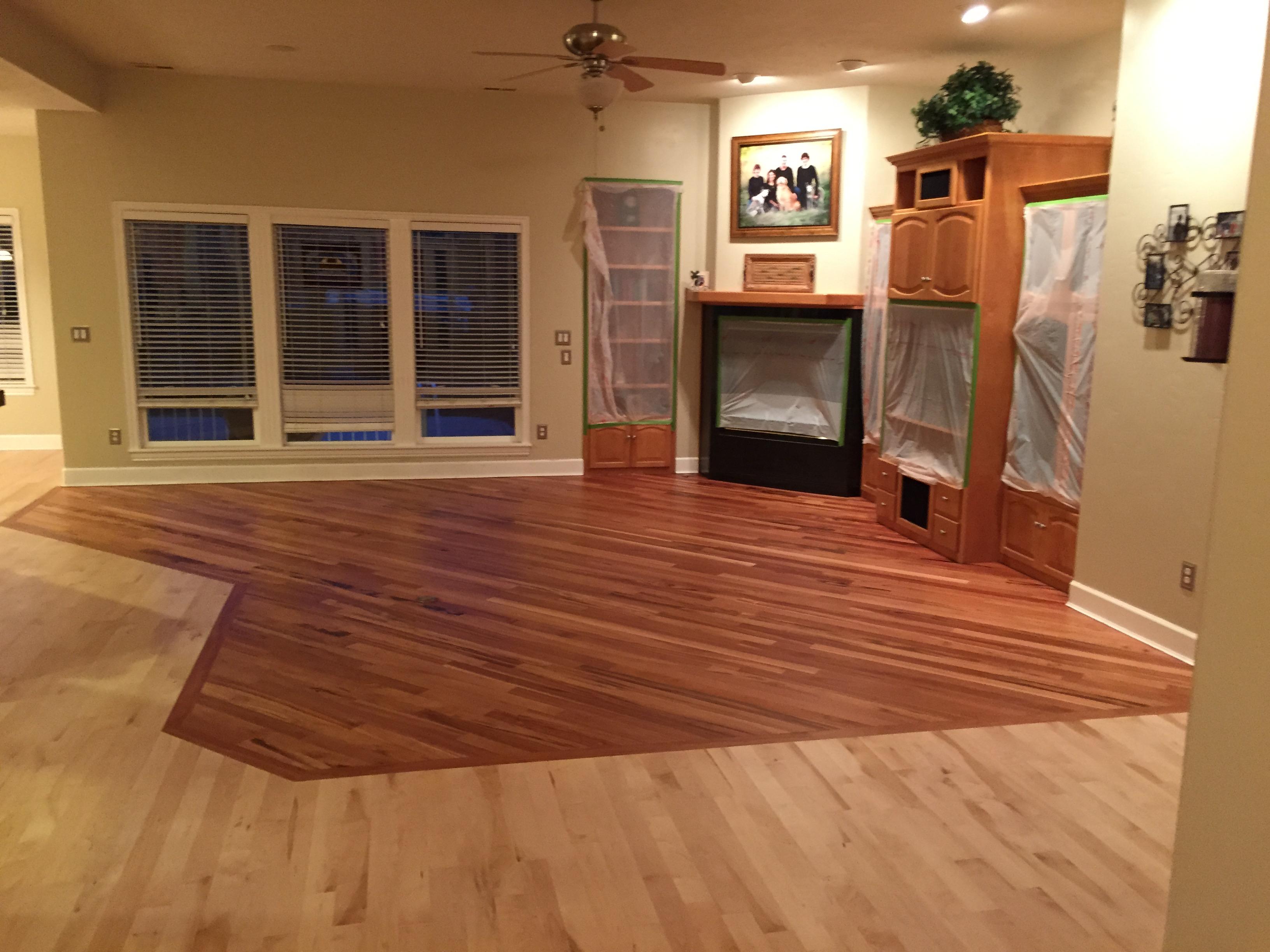 2000 Sq Ft Wood Floor Refinish in Eagle Idaho with UV