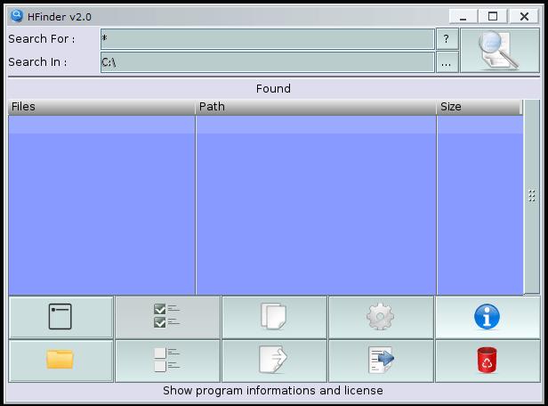 HFinder : Main window