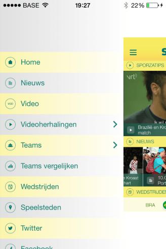 Sporza app