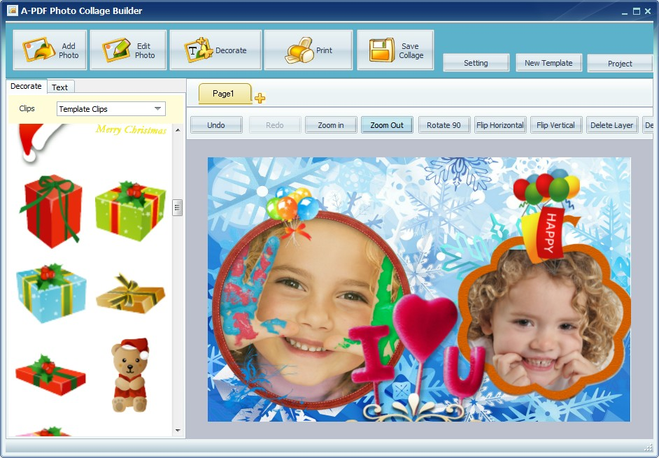 digital photo collage software