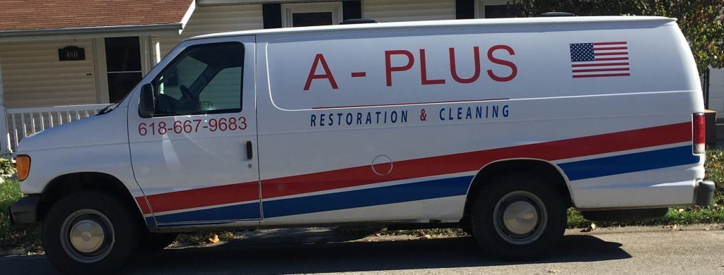 A-Plus Carpet Cleaning Van