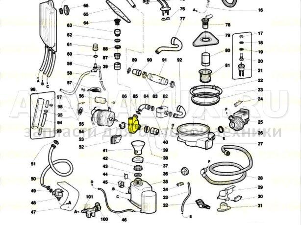 055005 Улитка циркуляционного насоса посудомоечной машины