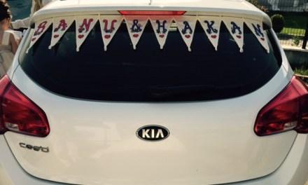 Araba Flaması / Gelin Arabası Yazısı