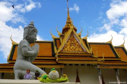 Cambodge, Phnom Penh, palais royal