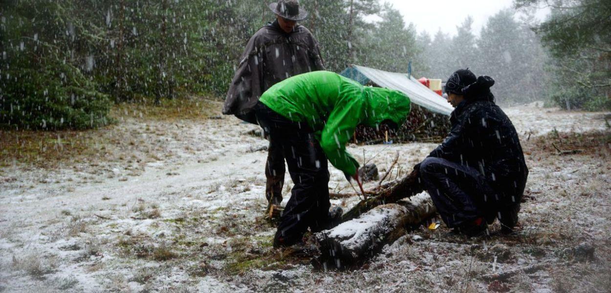 Larzac, stage de survie, hiver