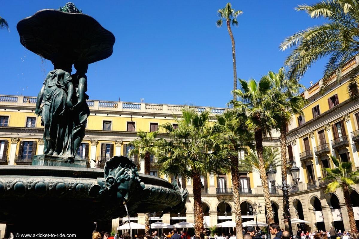Espagne, Barcelone, Plaza real