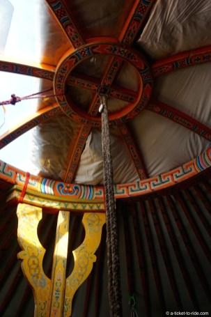 Mongolie, intérieur d'une yourte