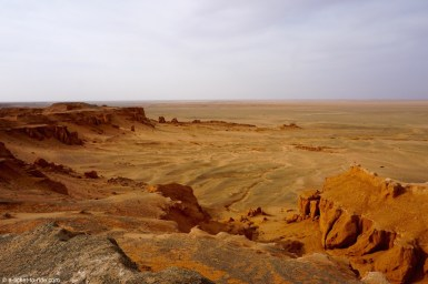Mongolie, Bayanzag, falaises de feu