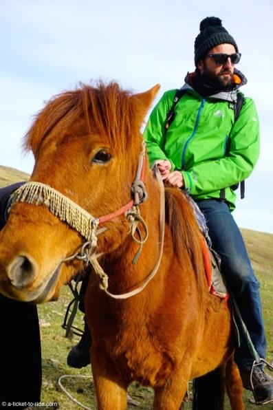 Mongolie, Vallée d'Orkhon, à cheval