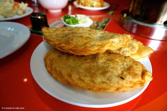 Mongolie, gastronomie, Khuushuur