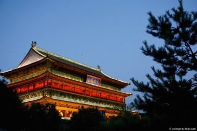 Chine, Xi'an, tour du tambour
