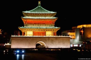 Chine, Xi'an, tour de la cloche