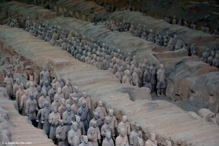Chine, Xi'an, armée de terre cuite