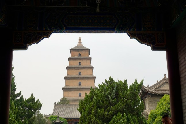 Chine, Xi'an, pagode de la grande oie sauvage