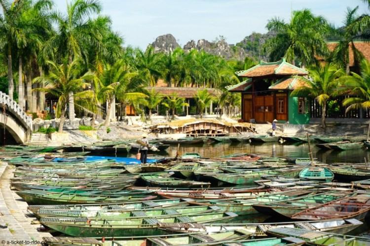 Vietnam, Tam Coc, embarcadère