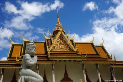 Cambodge, Phnom Penh, Pagode d'argent