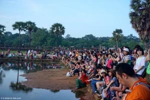 Cambodge, Angkor Wat, lever de soleil