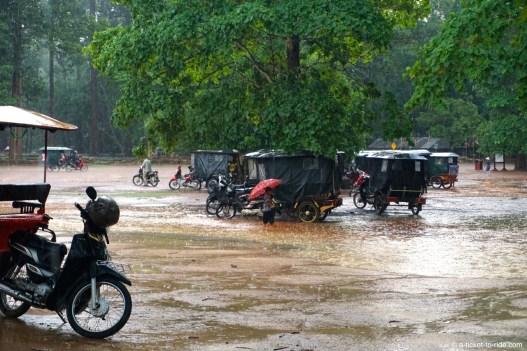 Cambodge, Angkor, pluie