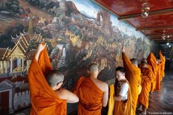 Thaïlande, Bangkok, moines, wat Phra Kaew
