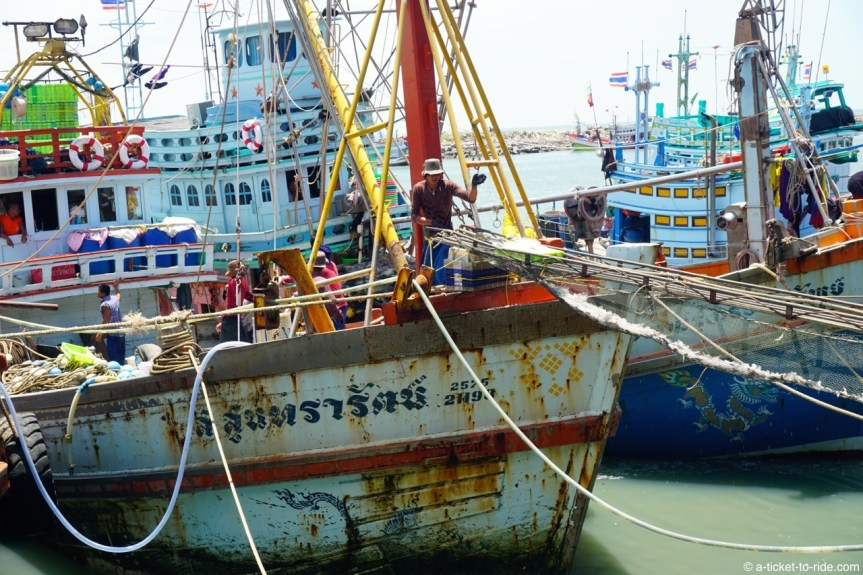 Thaïlande, Cha-am, port de pêche