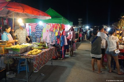 Thaïlande, Cha-am, marché de nuit