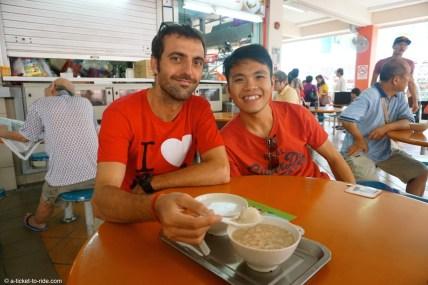 Singapour, peanut soup