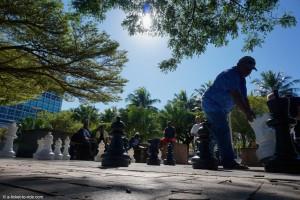 Nouvelle-Calédonie, Nouméa, place des cocotiers