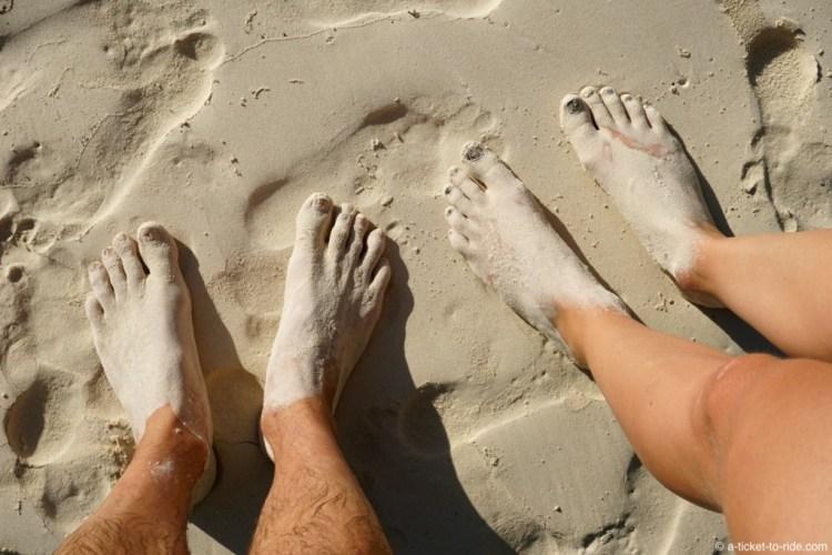 Nouvelle-Calédonie, Île des Pins, sable blanc