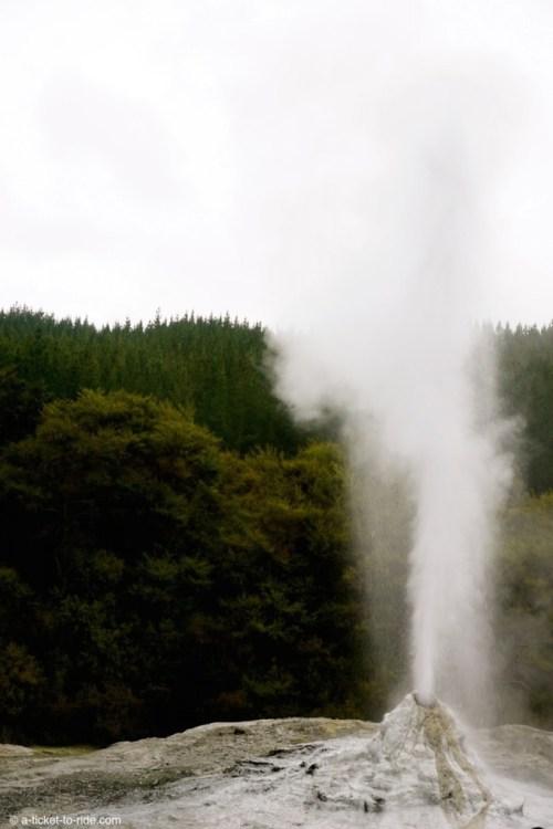 Nouvelle-Zélande, Wai-o-tapu, geyser