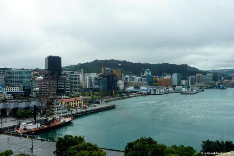 Nouvelle-Zélande, Wellington, vue depuis le Te Papa
