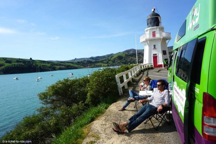 Nouvelle-Zélande, Akaroa, avec Ritchie