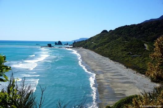Nouvelle-Zélande, route pour Pancake rocks