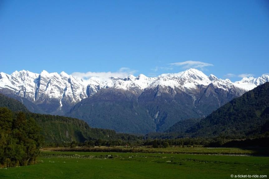 Nouvelle-Zélande, route pour les glaciers