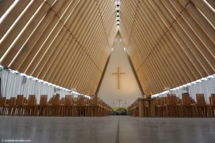 Nouvelle-Zélande, Christchurch, cathédrale en carton