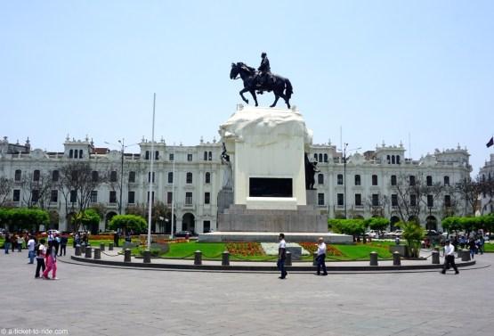 Pérou, Lima, plaza San Martin