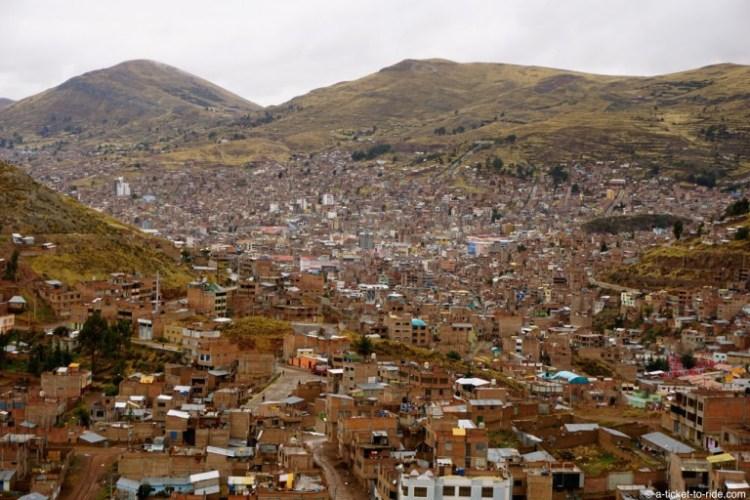 Pérou, vue sur Puno