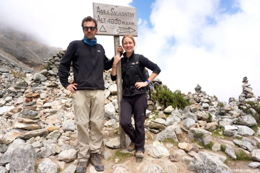 Pérou, trek du Salkantay, plus haut point du trek