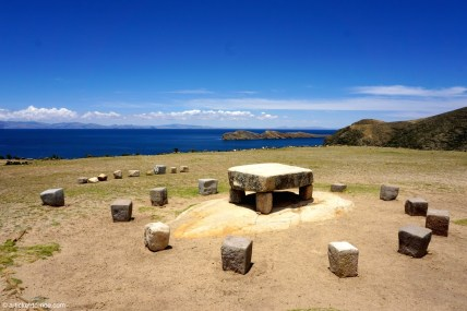 Bolivie, Isla del Sol , table de sacrifice