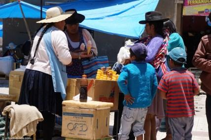 Bolivie, marché de Tarabuco