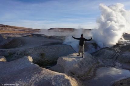 Bolivie, sud Lipez, geysers Sol de Mañana