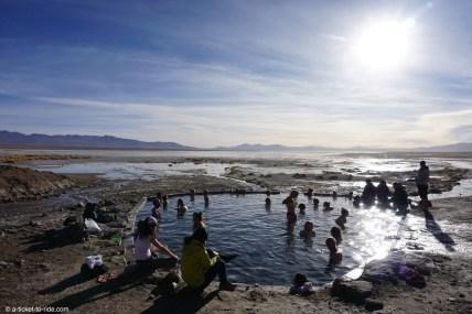 Bolivie, sud Lipez, sources chaudes