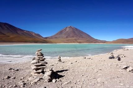 Bolivie, sud Lipez, laguna verde
