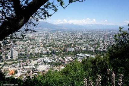 Chili, Santiago, vue depuis le cerro San Cristobal