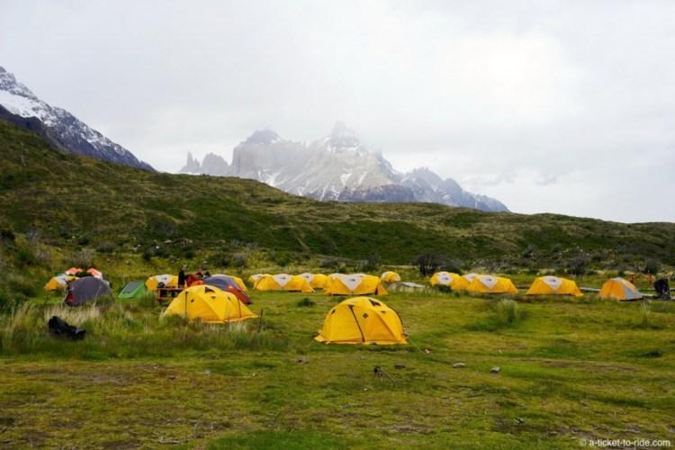 Chili, Torres del Paine, campement Paine Grande