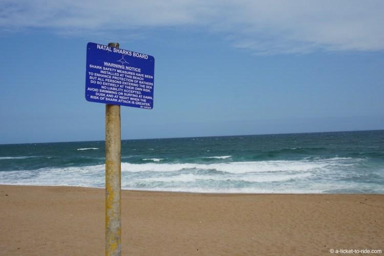 Afrique du Sud, avertissement requin