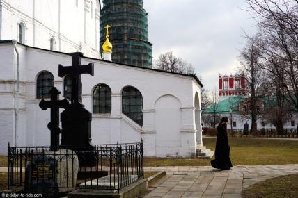 Russie, Moscou, monastère Novodievitchi, moine orthodoxe