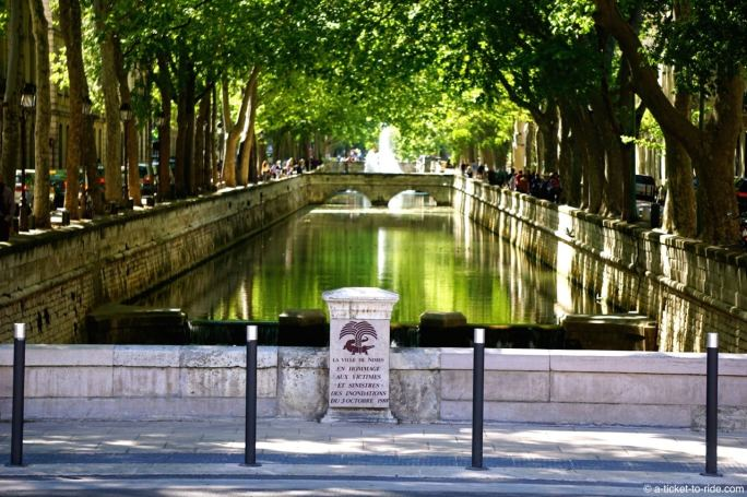 Nîmes, canal de la Fontaine