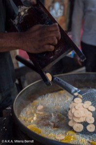Inde, Munnar, chips de banane