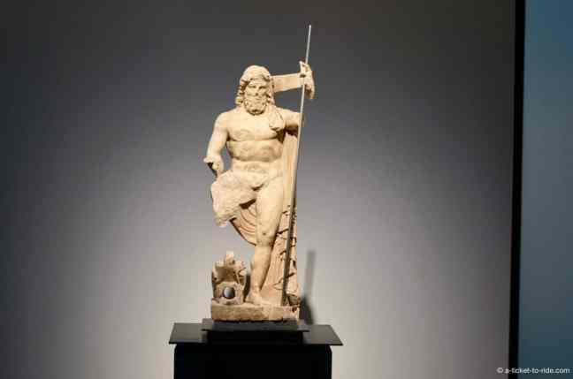 Nimes, musée de la romanité, statue poseidon