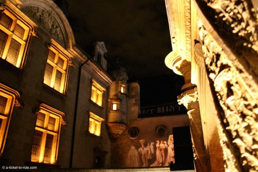 Bourges, Nuit lumière dans la ville